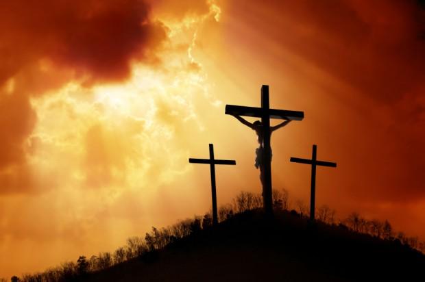 Jézus meghalt a kereszten. Nagypéntek.