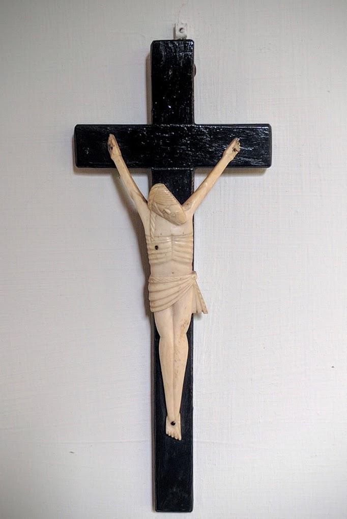 Ébenfa elefántcsont Krisztus